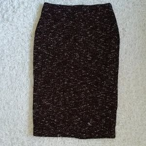 Ann Taylor Boucle Stretch Pull On Pencil Skirt